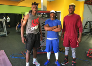 Oregon Ducks LB Lamar Winston JR. and Central Catholic #34 LB Elijah Winston
